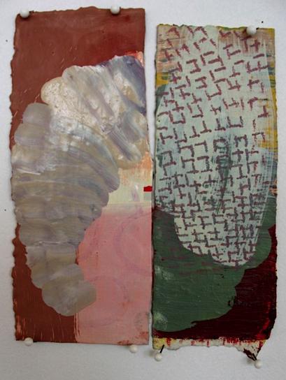 Divide, 2008, oil on paper, 6.5 x 5