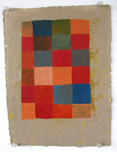 Grid I, 2008, oil on paper, 12x9