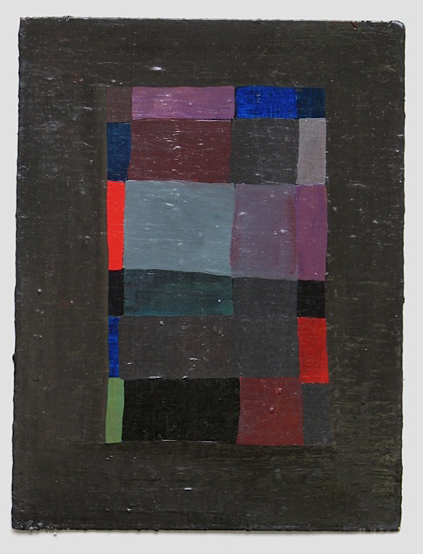 Grid III, 2008, oil on paper, 11x9
