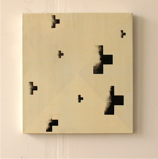 Hairs Breath, 2012, oil on canvas, 26 x 24