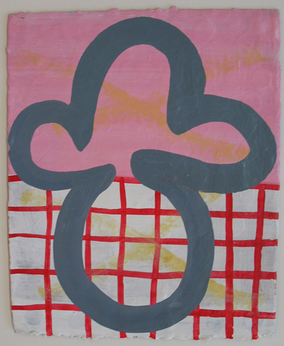 Minuet, 2007, oil on paper, 8 1_2 x 7