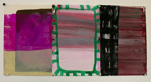 Which is to Say, 2012, gouache on paper, 6 x 12.25