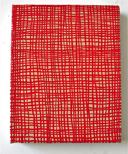 paintings2011_7 Red Grid 2011 oil on canvas 10x8
