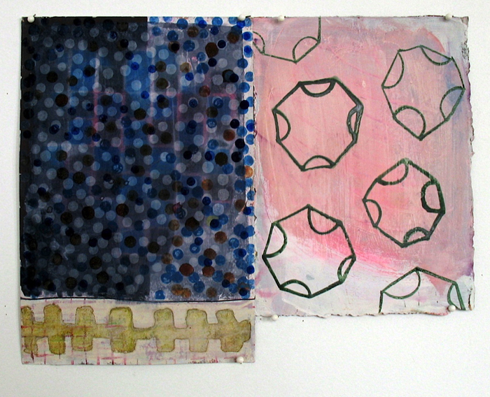 wop2010_3 Tongues of Children 2010 gouache and watercolor on paper 8 34 x 11 12