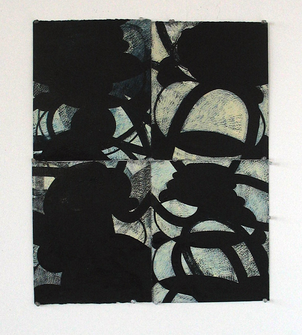 wop2010_4 Pieces 2010 oil on paper 26 x 22