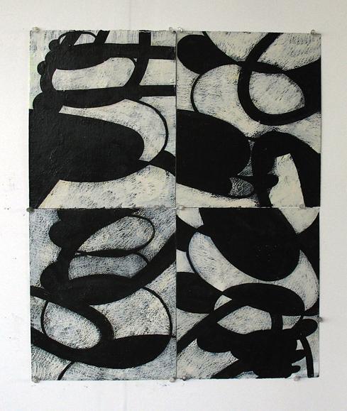 wop2010_7 Aqua Hollows XV 2010 oil on paper 26x22
