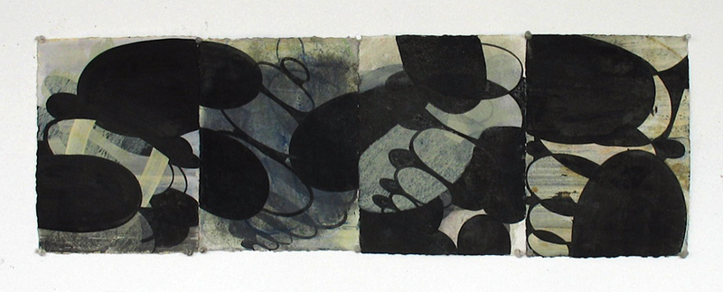 wop2010_8 Aqua Hollows III 2010 gouache and ink on paper 11 12x35 12