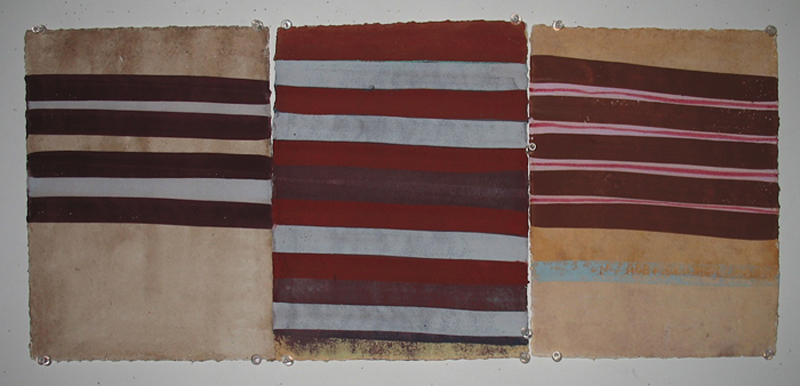 wop2011_11 Under Trees 2011 gouache and ink on paper 12x26 34