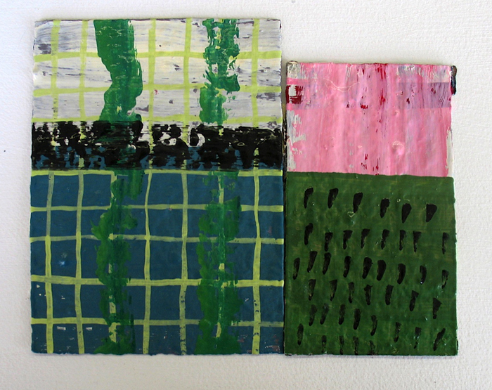 wop2011_12 Someplace Else 2011 oil on paper 5 34x7 14